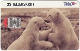 NORWAY A-457 Chip Telenor - Animal, Polar Bear - Used - Noruega