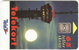 NORWAY A-460 Chip Telenor - Landscape, Moon - Used - Noruega