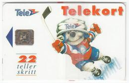NORWAY A-472 Chip Telenor - Sport, Ice Hockey - In Blister - Noruega