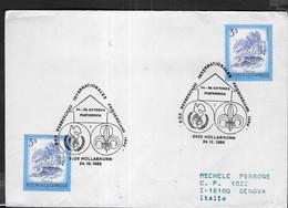 """AUSTRIA - SCOUTISMO -  ANNULLO SPECIALE """" B.S.V. WERBESCHAU INTERNATIONALES FRIEDENSJAHR 1986 - HOLABRUNN - 24.10.1986 - 1981-90 Cartas"""