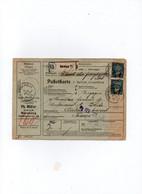 Allemagne - Colis Postaux  Bulletin Expédition   Postpakete Paketkarte   NUERNBERG Pour CERBERE France  Timbre N° 362 - Cartas