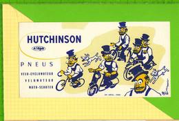 BUVARD & Blotting Paper :  Pneus HUTCHINSON  Velo Velomoteur Scooter Signé Mich - Bikes & Mopeds