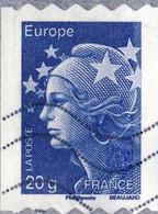 600 Marianne BEAUJARD ADH Bleue 20g  OBLITERE ANNEE 2011 - 2008-13 Marianne De Beaujard