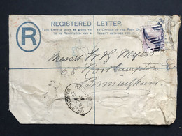 GB Victoria 1885 Registered Cover Tied With 2d Lilac Manchester To Birmingham - Lettres & Documents