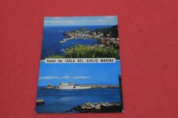 Grosseto Isola Del Giglio Vedute Con Nave  Traghetto 1976 - Grosseto