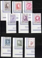 Belgique 1972 Yvert 1627 / 1635 ** TB Coin De Feuille - Unused Stamps