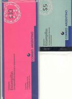 ARGENTINA 1995 Booklets 18/19, $5, $ 10, Mi 2237, 2238 - Booklets