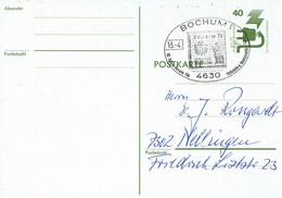 Germany - Ganzsache Postkarte Sonderstempel /  Postcard Special Cancellation (f922) - Postales - Usados