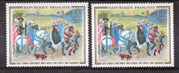 France 1457c  Variété Impression Décalée Chien à 8 Pattes Crinière . Et Normal Duc De Berry  Neuf ** TB MNH Sin Charnela - Varieties: 1960-69 Mint/hinged