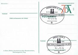 Germany - Ganzsache Postkarte Sonderstempel / Postcard Special Cancellation (f924) - Postales - Usados