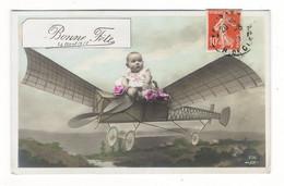 BONNE  FÊTE  /  Bébé Dans Un Aéroplane ( Avion, Machine Volante ) /  SURREALISME  /  Edit.  J. K.  N° 736 - Babies