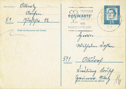 Germany - Ganzsache Postkarte Echt Gelaufen / Postcard Used (f926) - Postales - Usados