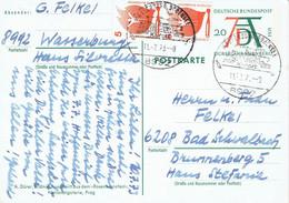 Germany - Ganzsache Postkarte Echt Gelaufen /  Postcard Used (f933) - Postales - Usados