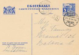Nederlands Indië - 1934 - 5 Cent Karbouwen, Briefkaart G56 Van LBnr Soekaboemi/2 Naar BataviaCentrum/11 - Niederländisch-Indien