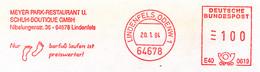 Freistempel 2686 Fußabdruck Schuhe Barfuß - Machine Stamps (ATM)