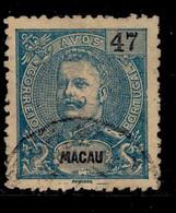 ! ! Macau - 1903 D. Carlos 47 A - Af. 139 - Used - Unused Stamps