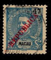 ! ! Macau - 1913 D. Carlos 47 A Local Republica - Af. 196 - Used - Unused Stamps