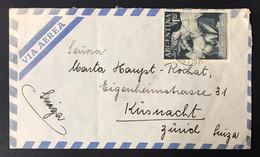 ARGENTINA Letterina Via Aerea 1955 Con ALLEGORIA Buenos Aires Grano 1954 Cod.bu.462 - Briefe U. Dokumente