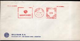 Argentina - 1992 - Lettre - Cachet Spécial - Affranchissement Mécanique - Manpower - A1RR2 - Cartas