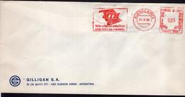 Argentina - 1992 - Lettre - Cachet Spécial - Affranchissement Mécanique - MTM - A1RR2 - Cartas