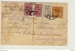 POSTKARTE GANZSACHE ZUSATZFRANKATUR 1922 REF 143 - Cartas