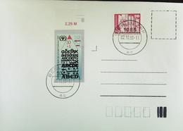 DDR : Brief Mit ABC-Mke 30+5 Pf In MiF Mit 20 Pf Bauten Vom DDR-Letzttag 2.10.90 BERLIN ZPF Knr: 3353,1869 Ohn Anschrift - Cartas