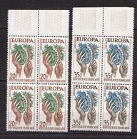 N° 1122 Et 1123 Europa 1957: Beaux Blocs De 4 Timbres Neuf Impeccable Sans Charnière - Ongebruikt