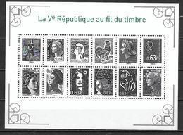 France 2013 Bloc Feuillet F4781 Marianne De La Vème République  état Luxe - 2008-13 Marianne De Beaujard