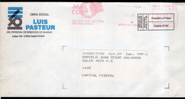 Argentina - Circa 2000 - Courrier Privé Mail Corp - Circulé - Envoyé En Buenos Aires - O. Social Luis Pasteur - A1RR2 - Cartas