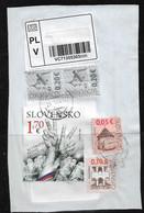 Slovakia Stamps - For Insured Letter - Slovak Post Interesting Franking 06** SLOWAKEI ** SLOVAQUIE - Usados
