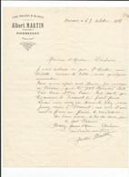 04 - PIERREVERT - Albert Martin - Vins Rouge & Blanc ( Facture ) - 1900 – 1949