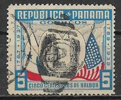 PANAMA 1938 ANNIVERSARIO DELLA COSTITUZIONE DEGLI STATI UNITI YVERT. 208 USATO VF - Panamá