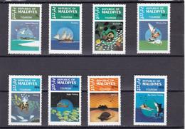 Maldivas Nº 960 Al 967 - Maldivas (1965-...)
