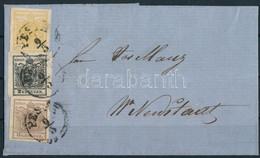 "1856 1kr + 2kr + 6kr Levélen ""PESTH"" - Wr. Neustadt. Certificate: Ferchenbauer (Ferchenbauer EUR 4.500,-) - Unclassified"