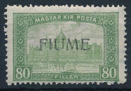 ** Fiume 1918 Parlament 80f H.IV. Felülnyomással, Bodor Vizsgálójellel (Sassone EUR 220,-) - Unclassified