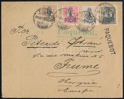 "1899.jan.27. Peterdi Hajóposta Levél (20kr) Tarifa, Rendkívül Dekoratív Darab ""CORREIO / PORTO"" érkezéssel RR! - Unclassified"