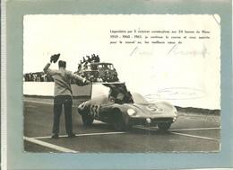 PHOTO 145/105 - LEGENDAIRE PAR 3 VITOIRES CONSECUTIVES AUX 24 H DU MANS ..... - AUTOGRAPHE RENE BONNET (ref 2201) - Grand Prix / F1