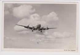 Vintage Rppc KLM K.L.M Royal Dutch Airlines Douglas Dc-6 Aircraft - 1919-1938: Between Wars