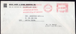 Argentina - 1990 - Lettre - Cachet Spécial - Affranchissement Mécanique - Merck Sharp & Dohme - A1RR2 - Cartas