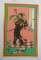 Scherzkarte, Männer, Blume, 1930, Birger  ♥ (26267) - Humor