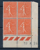 DX-641: FRANCE: Lot Avec Coin Daté Du N°204 (19/6/24) 1ex**, 3ex* Gomme 2ème Choix - ....-1929