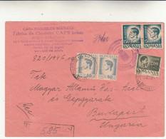 Reghin To Budapest Cover Raccomandata 1946 - Briefe U. Dokumente