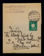 SUISSE Zurich Postal Stationery Newspaper 1939 Flowers Fleurs Flora Sp7439 - Other