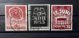 # # # Set BERLIN (Berlin) 71, 110 +111 ERP Und 17. Juni Gebraucht # # # - Used Stamps
