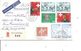 Suisse ( Lettre Recommandée De 1965 De Zurich Vers Les USA à Voir) - Briefe U. Dokumente