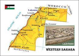Western Sahara Map New Postcard Westsahara Landkarte AK - Western Sahara