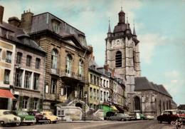 Dep 59 , Cpm AVESNES Sur HELPE , 573 , La Mairie , La Collégiale (nombreuses Voitures) (20889) - Avesnes Sur Helpe