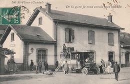 15 SAINT FLOUR     LA GARE AUTOBUS DE CHAUDESAIGES - Saint Flour