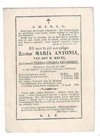 ANTWERPEN - E. Z.  Maria Antonia - Theresia VAN LOOVEREN - ArmE Clarissen Coletinen - °1813 +1874 - (Kopergr.Huberti) - Santini