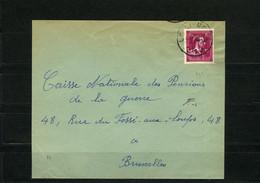België 724N - Op Brief - Sur Lettre - 292 - Uccle-Ukkel - 1946 -10%
